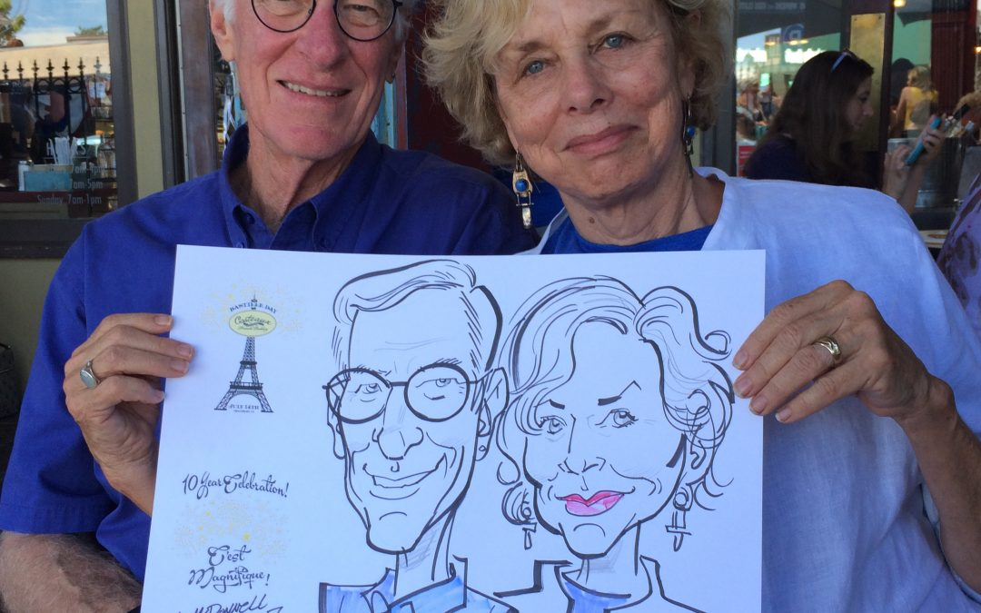 Caricatures-Bastille Day in Healdsburg